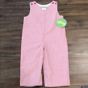 Classic Whimsy Red Pane Longall Size 3T New